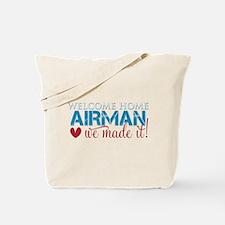 We Made it Airman Tote Bag