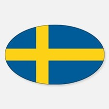 Swedish Flag Sticker (Oval)