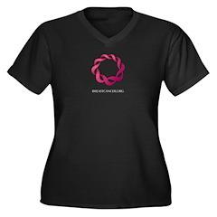 Breastcancer.org Women's Plus Size V-Neck Dark T-S
