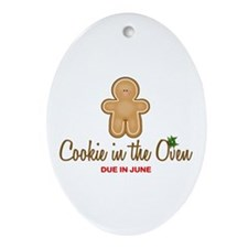 Due June Cookie Ornament (Oval)