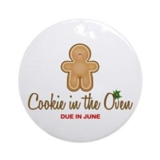 Due June Cookie Ornament (Round)