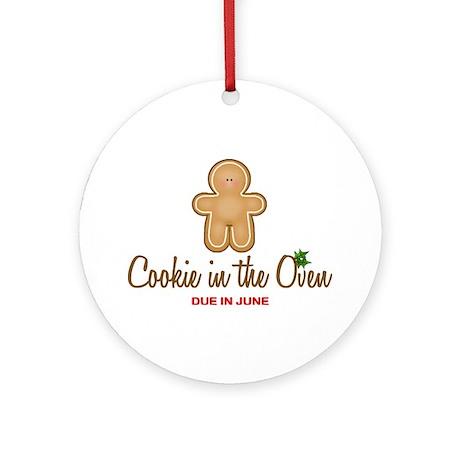 Due June Cookie Ornament (Round)