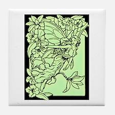 Gorgeous Green Faerie Tile Coaster