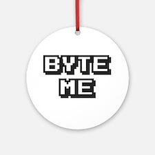 'Byte Me' Ornament (Round)