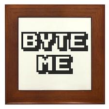 'Byte Me' Framed Tile