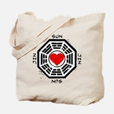 Sun and Jin Dharma Heart Tote Bag