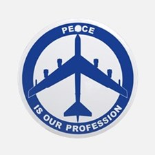 B-52H Peace Sign Ornament (Round)