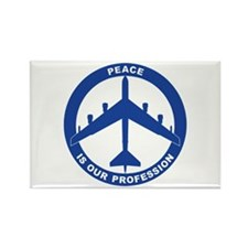 B-52H Peace Sign Rectangle Magnet