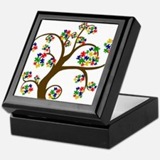 Autism Tree of Life Keepsake Box