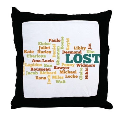 LOST Names Throw Pillow