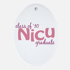 NICU Graduate 2010 Ornament (Oval)