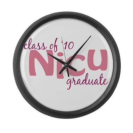 NICU Graduate 2010 Large Wall Clock