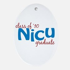 NICU Graduate 2010 (blue) Ornament (Oval)