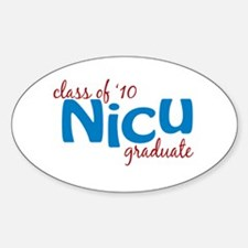 NICU Graduate 2010 (blue) Decal