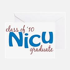 NICU Graduate 2010 (blue) Greeting Card