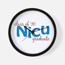 NICU Graduate 2010 (blue) Wall Clock