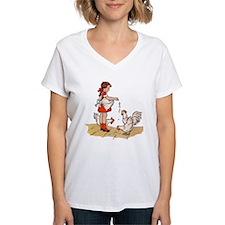 'Chicken Feed' Women's V-Neck T-shirt