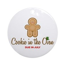 Cookie in the Oven (TM) Due June Ornament (Round)