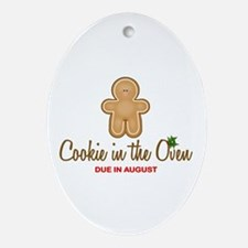 Due August Cookies Ornament (Oval)