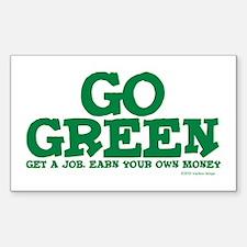 Go Green-Get a Job Sticker (Rectangle)
