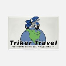 Cute Trike motorcycle Rectangle Magnet (100 pack)