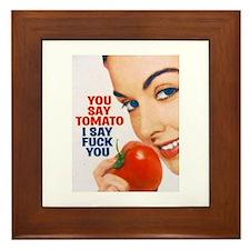 Cute Tomatoes Framed Tile