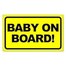 Baby on Board Rectangular Decal