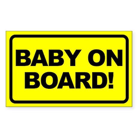 Baby on Board Rectangular Sticker