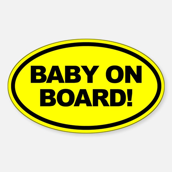 Yellow Baby on Board Car Decal