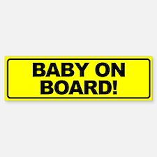 Baby on Board Bumper Bumper Bumper Sticker