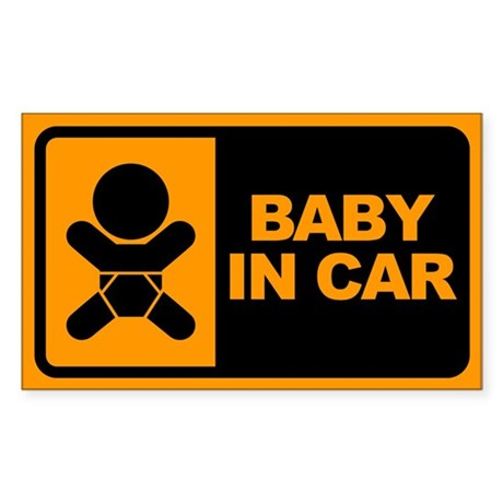 Baby in Car Rectangle Sticker