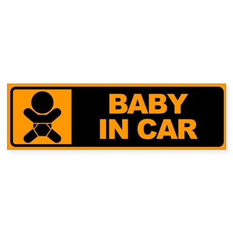 Baby in Car Bumper Sticker