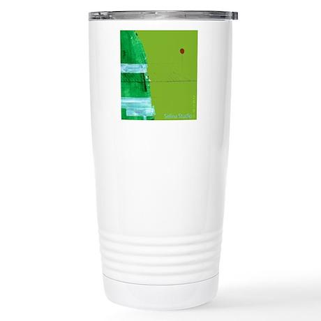 """Green Hill"" Stainless Steel Travel Mug"