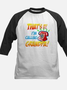 That's It I'm Calling Grandpa Kids Baseball Jersey