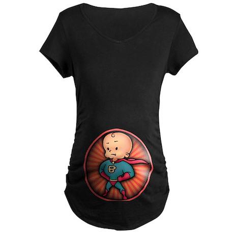 Future Hero Baby Maternity Dark T-Shirt