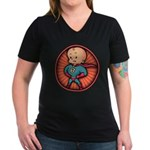 Future Hero Baby Women's V-Neck Dark T-Shirt