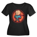 Future Hero Baby Women's Plus Size Scoop Neck Dark