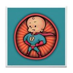 Future Hero Baby Tile Coaster