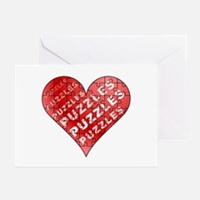 Jigsaw Puzzle Heart Greeting Cards (Pk of 10)