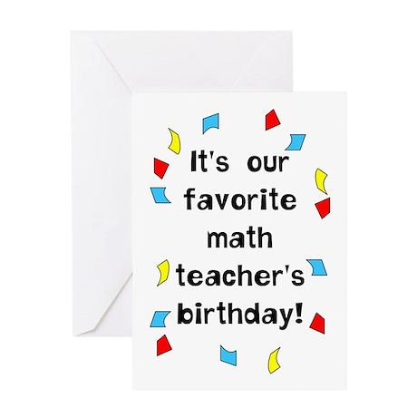 Math Teacher Birthday Greeting Card