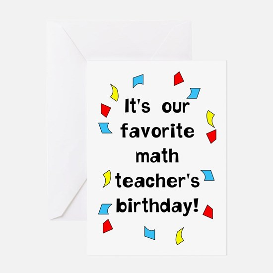 Math Teacher Birthday Greeting Cards – Birthday Greeting Card for Teacher