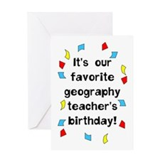 Geography Teacher Birthday Greeting Card