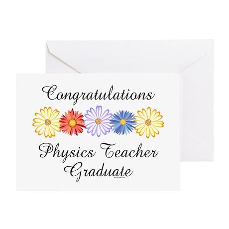 Physics Teacher Graduation Greeting Card