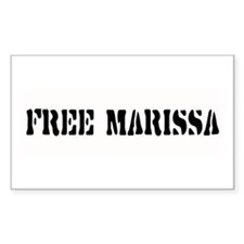 FREE MARISSA ~ Rectangle Decal