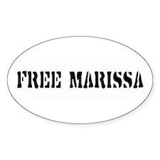 FREE MARISSA ~ Oval Decal