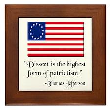 Dissent Thomas Jefferson Framed Tile