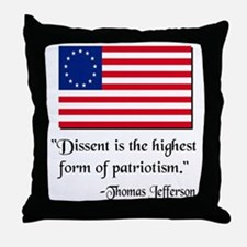 Dissent Thomas Jefferson Throw Pillow