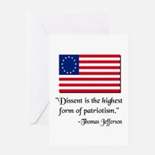 Dissent Thomas Jefferson Greeting Card