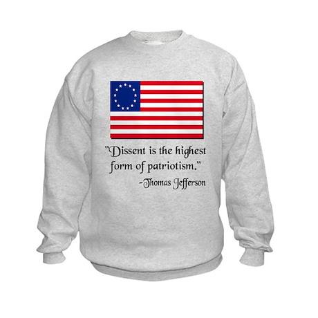Dissent Thomas Jefferson Kids Sweatshirt