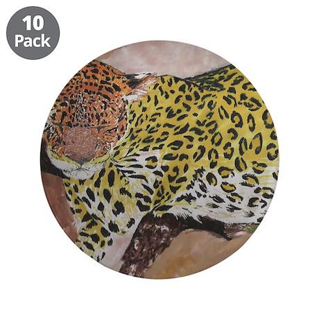 """Leopard- God's Creatures 3.5"""" Button (10 pack)"""